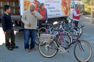 Trinity Center receives donation of bicycles from St Timothy's Episcopal Church in Danville.