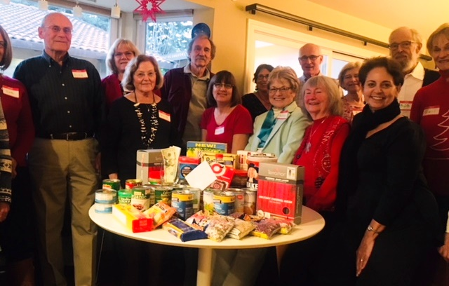 Members of the League of Women Voters of Diablo Valley collected donations at their holiday party for the Trinity Center in Walnut Creek, serving the homeless and working poor.